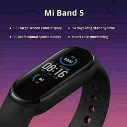 Relógio monitor cardíaco miband 5 lançamento entrega gratuita em toda baixada