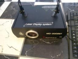 Laser que escreve com teclado e efeitos