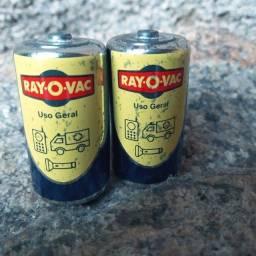 Pilhas  antigas Rayo Vac  anos 80 Raras , relíquia 2 Peças