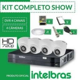 Kit 4 câmeras Intelbras instalado a partir de R$1700,00