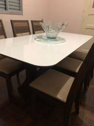 Conjunto de mesa com 06 cadeiras para sala de jantar