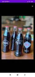 Lindas garrafas antigas da coca cola