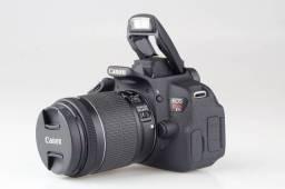Canon Eos Rebel T5i Lente 18-55 E Duas Baterias Extras