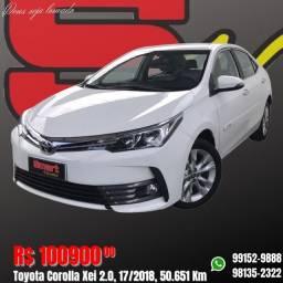Título do anúncio: Smart Veículos - Toyota Corolla Xei 2.0, 17/2018, 50.651 Km. R$: 100.900,00