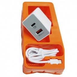 Carregador iPhone 48w Usb-C usb + Cabo Lightning Usb-C 48w