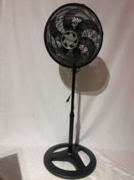 Ventilador de coluna Ventisol Turbo 6P preto com 6 pás, 40 cm de diâmetro 127 V