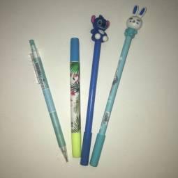 kit escolar canetas + marca texto