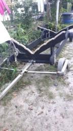 Carreta de encalhe barco lancha 20 até 23 pés