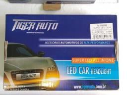 Lâmpada Super Led Malha 6000k 12/24v 6400l  H7 H3 Hb4 Hb3  Tiger auto modelo TG-10.03.002