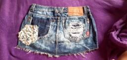 Saia jeans fill sete veste até 38