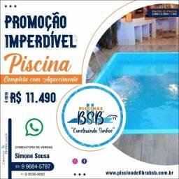 piscina de fibra Promoção imperdível