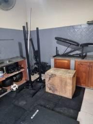 Seu treino de Crossfit em casa, equipamentos completos.