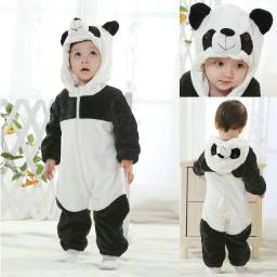 Título do anúncio: Pijama Kigurumi Infantil Panda Bebê Pelúcia Macacão Macio