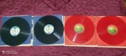 Discos de Vinil Beatles Vermelho e Azul