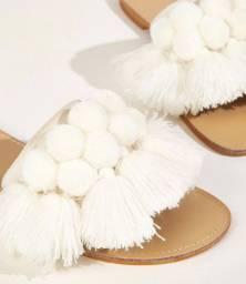 Sandália de crochê- macramê NOVA