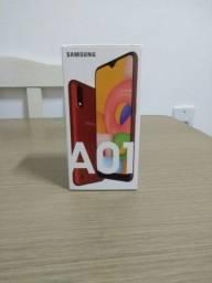 Samsung Galaxy A01 novo lacrado nunca foi usado com nota fiscal aceito cartão
