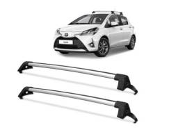 Rack De Teto Toyota Yaris 2018 2019 Aluminio Prata Projecar
