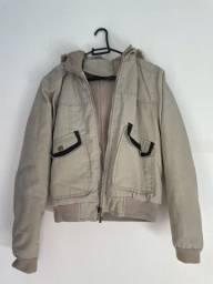 Jaqueta de frio bege tamanho M