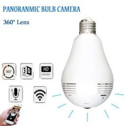 Lâmpada Câmera Led Wifi Ip Hd Panorâmica 360º Espião Celular<br><br>