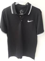 Camisa Polo Nike Court Preta + Camiseta Adidas Azul Marinho