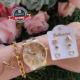 Kit relógio e acessórios
