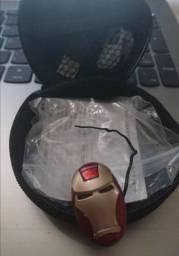 Mini fone Bluetooth homem de ferro - tipo s530 - NOVO, na case