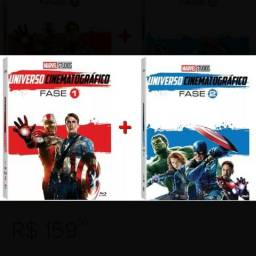 Box dvd marvel fase 1 e 2 completo