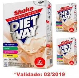 Kit 3 Shake Diet Way Midway 420g Para Emagrecer Com Colágeno