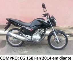 C.O.M.P.R.O Moto Cg Fan 150 - Modelo 2014 Em Diante - Preta - Preço de Venda ou Repasse - 2014