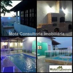 Mota Imóveis - Tem Casa 3 Qts Piscina + Terreno 316m² Condomínio em Araruama - CA-211