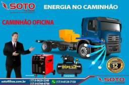 Energia no Caminhão com grupo gerador