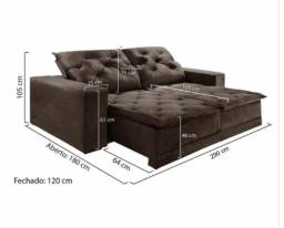 Pronta Entrega * Sofá Retrátil e Reclinável Com Pillow M79 - Preço Especial