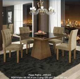 Conjunto de mesa 4 cadeiras Pietra _ ENTREGA EM 24 HORAS !!!PAGUE NO ATO