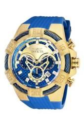 Relogio INVICTA BOLT MENS QUARTZ 52MM GOLD CASE BLUE DIAL - MODEL 26527