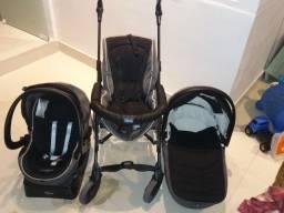 Trio Chicco Living Smart. Carrinho + Moisés + bebê conforto