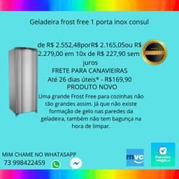 Geladeira frost free 1 porta inox consul