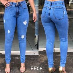 Calça Jeans Feminina Cintura Alta com Elastano. Atacado Fabrica Goiânia, Goiás
