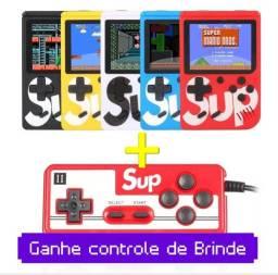 Mini game retrô portátil + Controle de Brinde