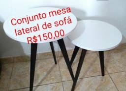 Conjunto de mesa lateral para sofá