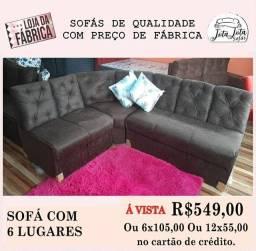 Quer deixar sua casa ainda mais linda com sofás A partir de 389.00