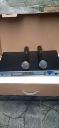 Microfone duplo 220v