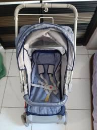 Carrinho de bebê Galzerano Milano azul marinho
