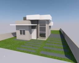 Casa de 55m² sozinha com terreno de 250m² na Guarda do Cubatão pelo MCMV
