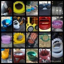Artesanatos de pneus