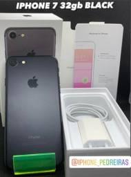 IPhone 7 Black 32gb Semi novo, na caixa