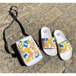 Sandália chinelo + bolsa grátis