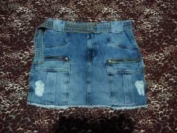 Saia jeans strech Tam 42