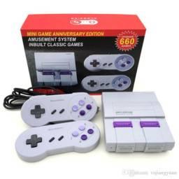Vídeo game retro 660 jogos console super mini retro (2 controles)