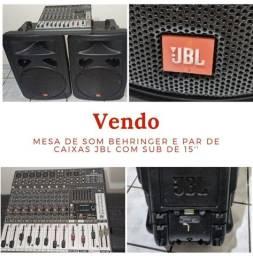 Conjunto de som BEHRINGER / JBL