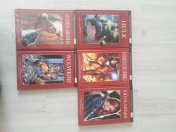 Hq Marvel Encadernados Hulk Homem de Ferro Viúva Wolverine Homem Aranha Thor Vingadores